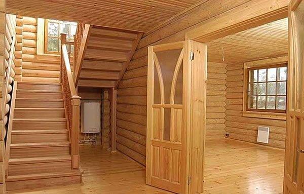 комфортная атмосфера деревянного дома