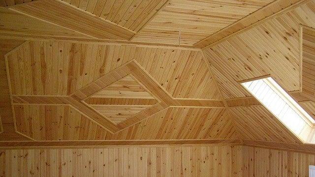 обшивка вагонкой потолка и стен