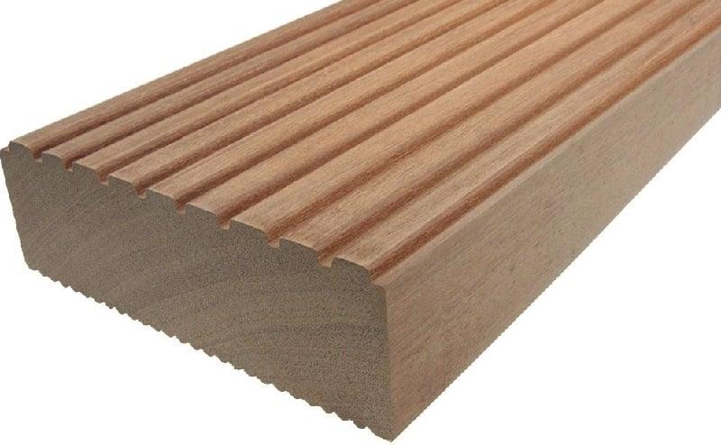 древесина бангкирай: рифленый профиль
